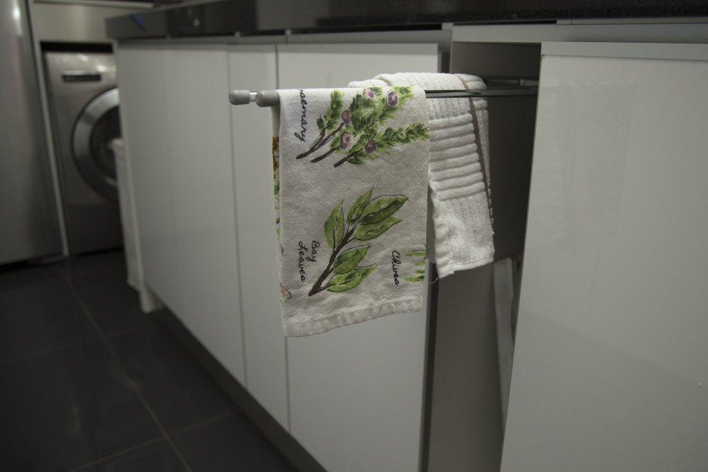 porta paños en mueble de cocina viña